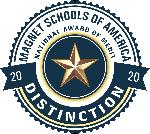 Magnet Schools of America award logo for School of Distinction for 2020
